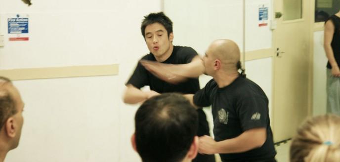 Sifu Kevin Chan demonstrates chop